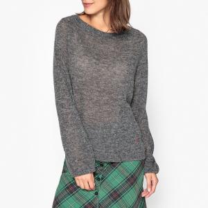 Пуловер с круглым вырезом из тонкого трикотажа MAYONESSOU LEON AND HARPER. Цвет: серый,темно-синий