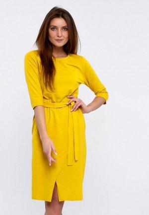 Платье Апрель. Цвет: желтый