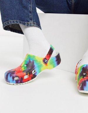Сандалии с принтом тай-дай -Многоцветный Crocs