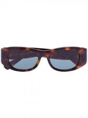 Солнцезащитные очки Tangerine в прямоугольной оправе Port Tanger. Цвет: коричневый