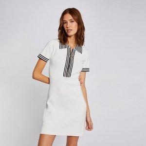 Платье-поло LaRedoute. Цвет: белый