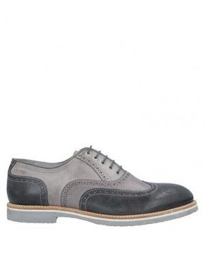 Обувь на шнурках NERO GIARDINI. Цвет: свинцово-серый