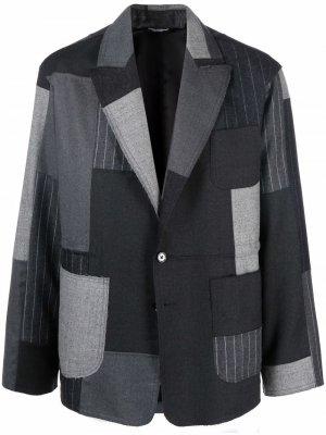 Пиджак в технике пэчворк Dolce & Gabbana. Цвет: серый