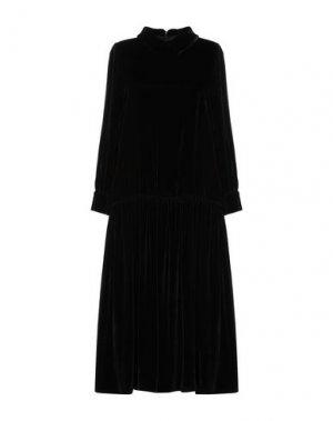 Платье длиной 3/4 ANDREA TURCHI. Цвет: черный