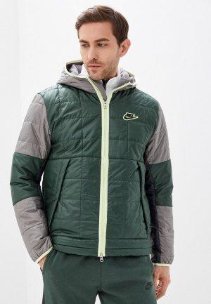 Куртка утепленная Nike M NSW SYN FIL JKT FLEECE LND. Цвет: зеленый