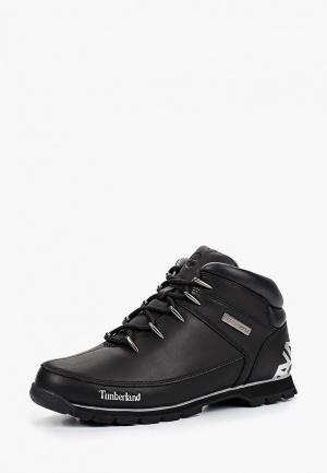 Ботинки Timberland Euro Sprint Hiker BLACK. Цвет: черный