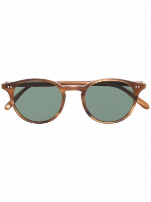 Солнцезащитные очки Clune в круглой оправе Garrett Leight. Цвет: коричневый