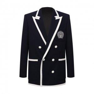 Шерстяной пиджак Balmain. Цвет: синий