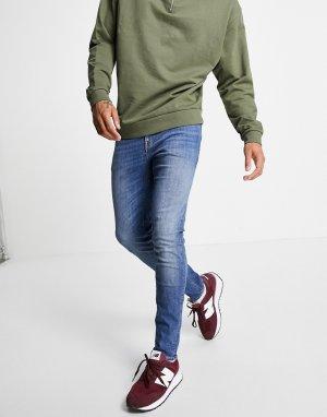 Синие джинсы скинни -Голубой ASOS DESIGN
