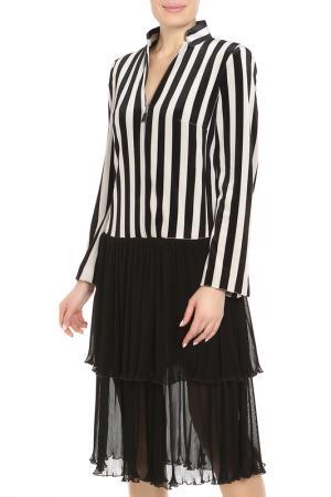 Платье Alter Ego. Цвет: бежевый, черный