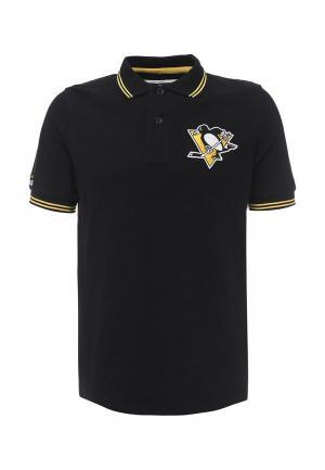 Поло Atributika & Club™ NHL Pittsburgh Pinguins. Цвет: черный