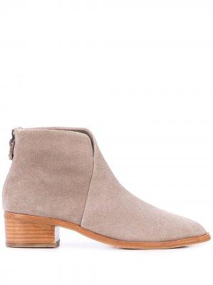 Ботинки со вставкой Soludos. Цвет: серый