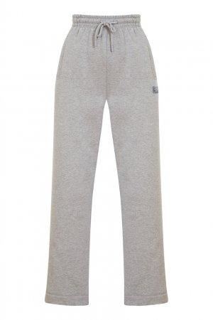 Серые спортивные брюки Ganni. Цвет: серый
