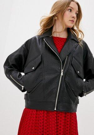 Куртка кожаная Hugo Levari. Цвет: черный
