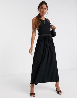 Черная юбка макси -Черный Vero Moda