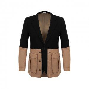 Шерстяной пиджак Alexander McQueen. Цвет: чёрный