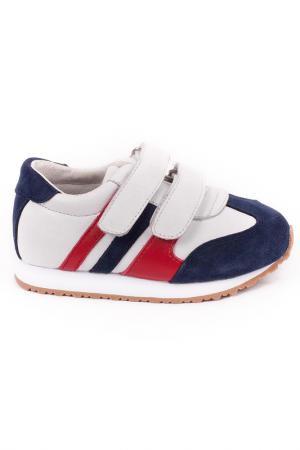 Кроссовки Gulliver. Цвет: белый, синий, красный