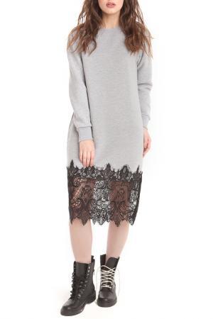 Платье FREESPIRIT. Цвет: серый