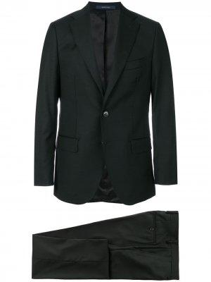 Костюм с однобортным пиджаком Fashion Clinic Timeless. Цвет: черный
