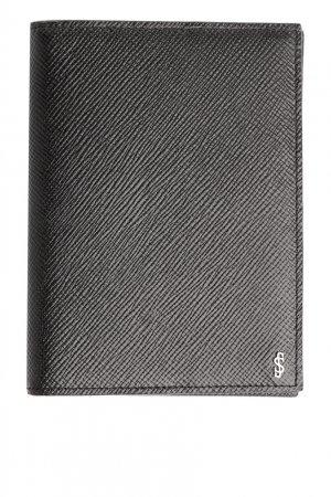 Черная сафьяновая обложка для паспорта Serapian. Цвет: черный