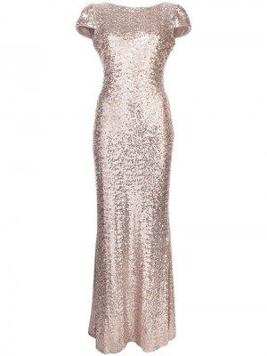 Вечернее платье с пайетками Badgley Mischka