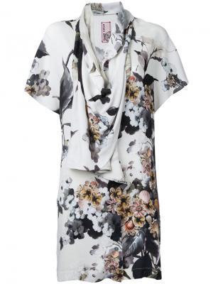 Драпированная блузка с цветочным принтом Antonio Marras. Цвет: разноцветный