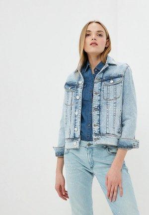 Куртка джинсовая Trussardi Jeans. Цвет: голубой