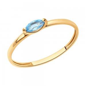 Кольцо из золота с топазом SOKOLOV