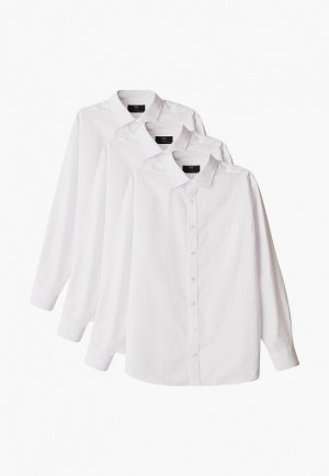 Рубашки 3 шт. Marks & Spencer. Цвет: белый