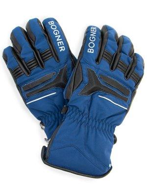 Перчатки горнолыжные BOGNER. Цвет: синий