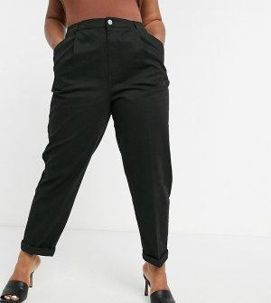 Черные брюки-чиносы ASOS DESIGN Curve hourglass-Черный