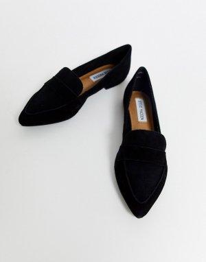 Черные кожаные лоферы с острым носком -Черный Steve Madden