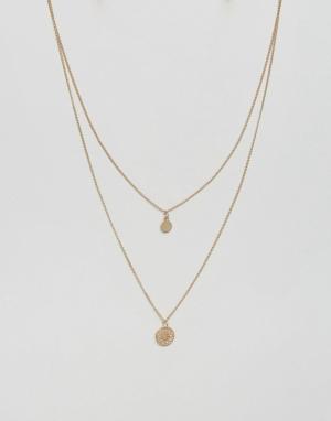 Ярусное ожерелье -Золотой ASOS DESIGN