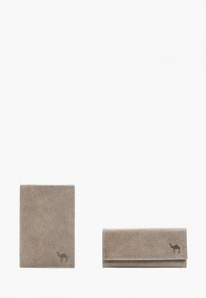 Обложка для документов и ключница Dimanche. Цвет: серый