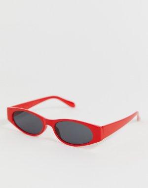 Красные солнцезащитные очки кошачий глаз в стиле ретро AJ Morgan. Цвет: красный