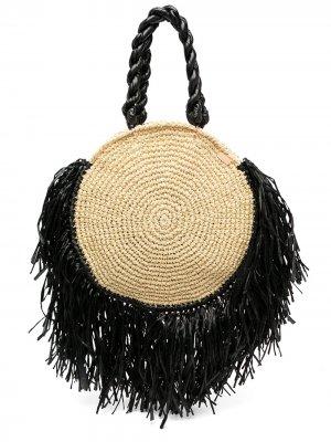 Пляжная сумка Tulum с кисточками 0711. Цвет: белый