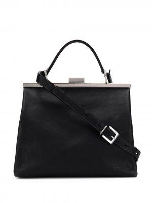 Каркасная сумка-тоут Frida Ally Capellino. Цвет: черный