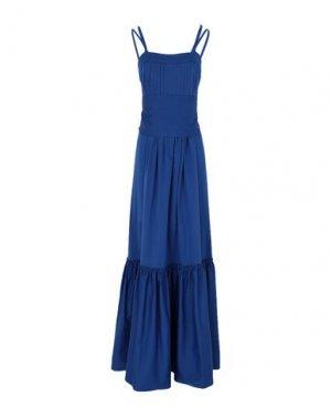 Длинное платье ALEXIS. Цвет: синий