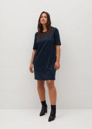Короткое платье с принтом - Jack Mango. Цвет: темно-синий