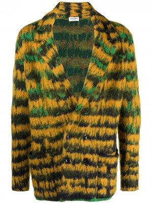 Двубортный пиджак Saint Laurent. Цвет: зеленый