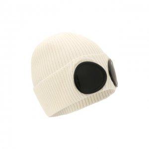Хлопковая шапка C.P. Company. Цвет: белый