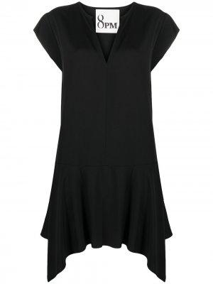 Платье с V-образным вырезом и расклешенным подолом 8pm. Цвет: черный