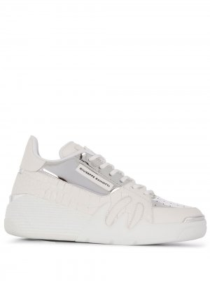 Кроссовки со вставками Giuseppe Zanotti. Цвет: белый