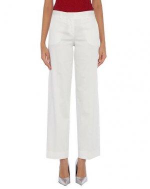 Повседневные брюки ANNECLAIRE. Цвет: белый