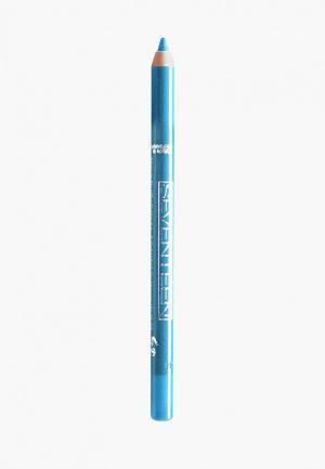 Карандаш для глаз Seventeen водостойкий т.17 с витамин.Е Super Smooth W/P&Longstay бирюзовый. Цвет: бирюзовый