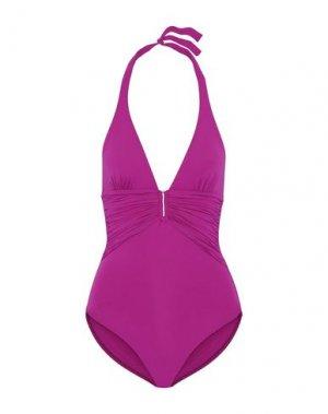 Слитный купальник MELISSA ODABASH. Цвет: розовато-лиловый