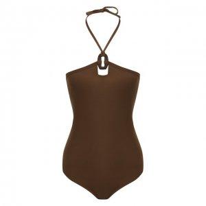 Слитный купальник Erika Cavallini. Цвет: коричневый