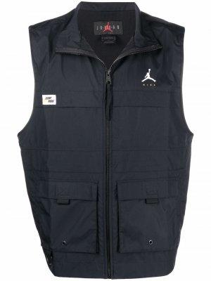 Жилет Jordan Jumpman с высоким воротником Nike. Цвет: черный