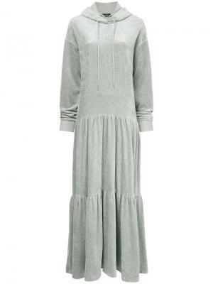 Длинное платье-свитер с капюшоном Goen.J