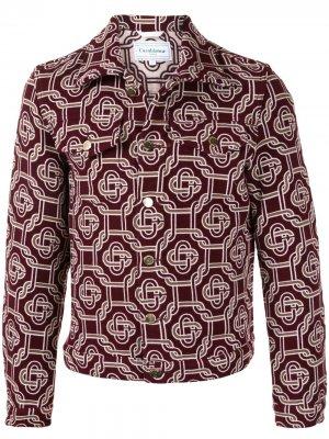 Куртка с узором Casablanca. Цвет: красный